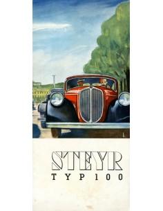 1934 STEYR TYP 100 BROCHURE DUITS