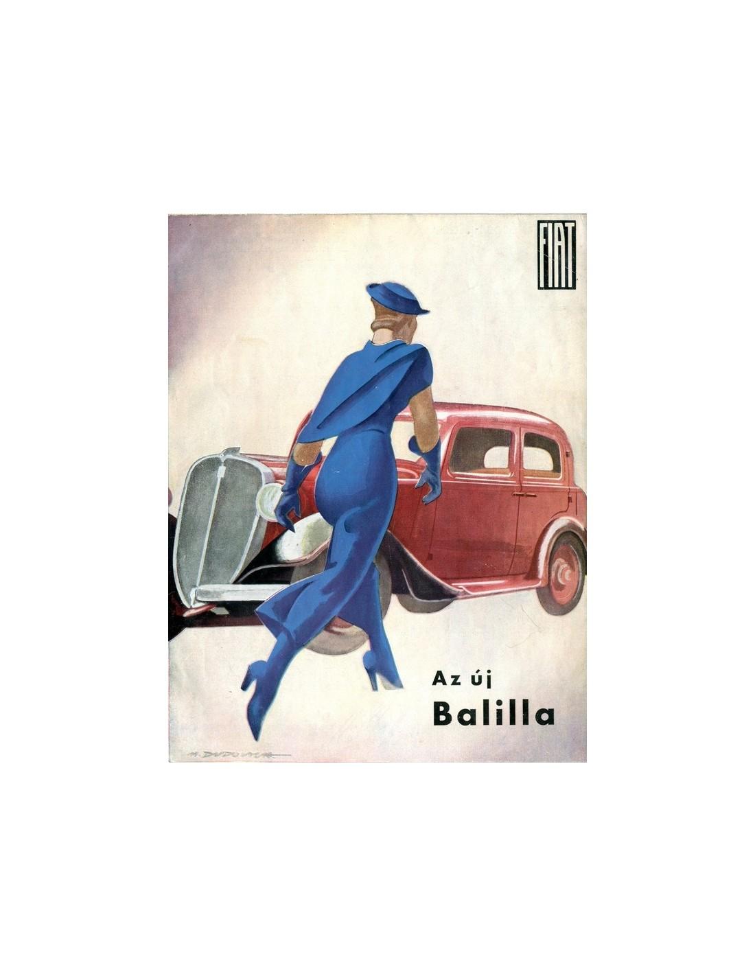 Bmw Z3 Brochure: 1934 FIAT BALILLA BROCHURE HONGAARS