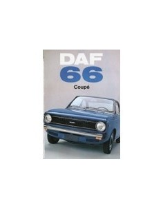 1972 DAF 66 COUPE BROCHURE NEDERLANDS