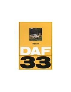1972 DAF 33 SEDAN BROCHURE NEDERLANDS