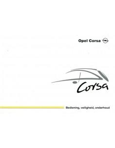 2002 OPEL CORSA INSTRUCTIEBOEKJE NEDERLANDS