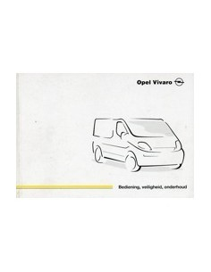 2001 OPEL VIVARO INSTRUCTIEBOEKJE NEDERLANDS