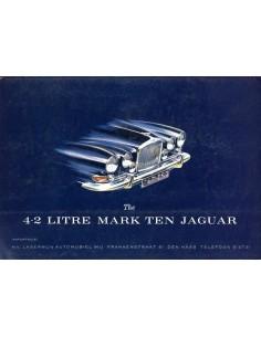 1966 JAGUAR 4.2 LITRE MK X BROCHURE NEDERLANDS