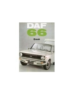 1972 DAF 66 BREAK BROCHURE FRANS