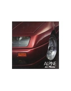 1990 ALPINE V6 TURBO LE MANS BROCHURE FRANS