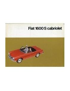 1963 FIAT 1600S CABRIOLET BROCHURE DUITS