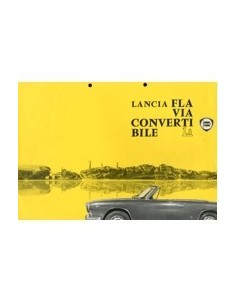 1963 LANCIA FLAVIA CABRIOLET 1.8 LEAFLET ENGELS