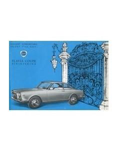 1963 LANCIA FLAVIA COUPE PININFARINA LEAFLET ENGELS