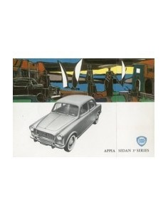 1960 LANCIA APPIA SEDAN 3RD SERIES BROCHURE ENGELS