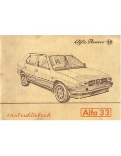 1986 ALFA ROMEO 33 INSTRUCTIEBOEKJE NEDERLANDS