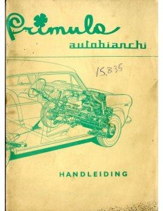 1966 AUTOBIANCHI PRIMULA INSTRUCTIEBOEKJE NEDERLANDS