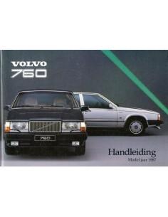 1987 VOLVO 760 INSTRUCTIEBOEKJE NEDERLANDS