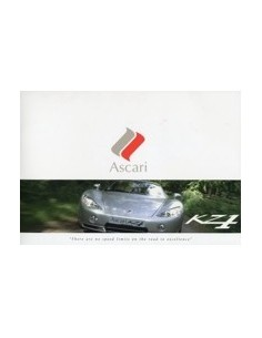 2006 ASCARI KZ1 BROCHURE ENGELS 502/950