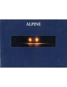 1992 ALPINE A610 TURBO BROCHURE FRANS