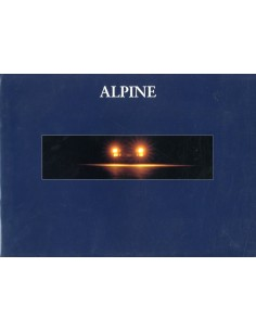 1992 ALPINE A610 TURBO BROCHURE FRANS