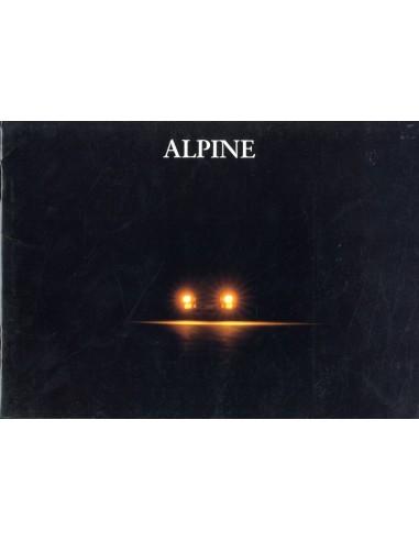 1991 ALPINE A610 TURBO BROCHURE FRANS