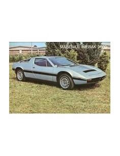 1978 MASERATI MERAK 2000 LEAFLET