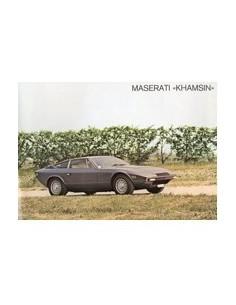 1978 MASERATI KHAMSIN LEAFLET DUITS