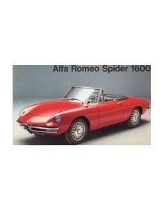 1966 ALFA ROMEO SPIDER 1600 BROCHURE ITALIAANS