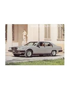 1980 MASERATI QUATROPORTE III LEAFLET