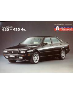 1994 MASERATI 430 - 430 4V LEAFLET ENGELS