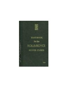 1958 ROLLS ROYCE PHANTOM SILVER CLOUD I INSTRUCTIEBOEKJE ENGELS