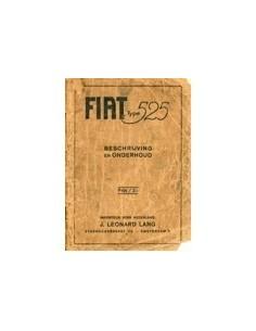 1929 FIAT TYPE 525 INSTRUCTIEBOEKJE NEDERLANDS