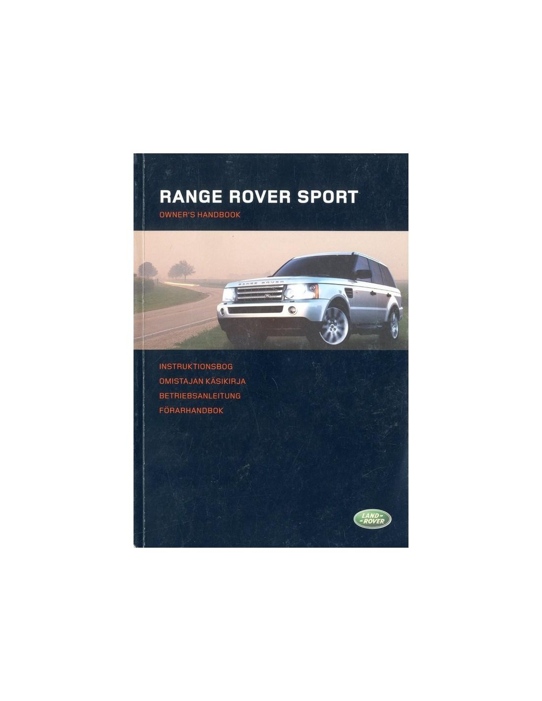 2006 Land Rover Range Rover Sport Owner S Manual German border=