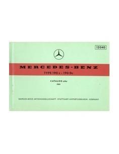 1961 MERCEDES BENZ TYPE 190 C 190 DC ONDERDELENHANDBOEK
