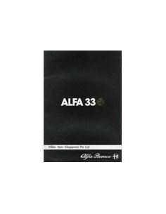 1983 ALFA ROMEO 33 BROCHURE ENGELS SINGAPORE