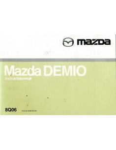 2000 MAZDA DEMIO INSTRUCTIEBOEKJE NEDERLANDS