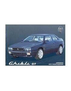 1995 MASERATI GHIBLI GT INSTRUCTIEBOEKJE BIJLAGE ITALIAANS
