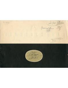1951 MERCEDES BENZ TYPE 300 BROCHURE DUITS