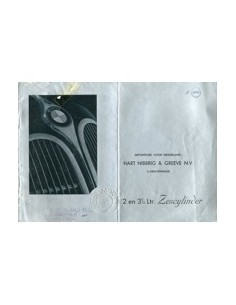 1939 BMW 2 EN 3.5 LITRE SIXCYLINDER BROCHURE DUTCH