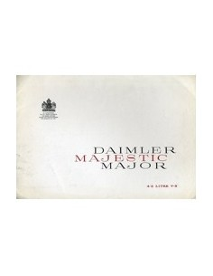 1960 DAIMLER MAJESTIC MAJOR BROCHURE ENGELS