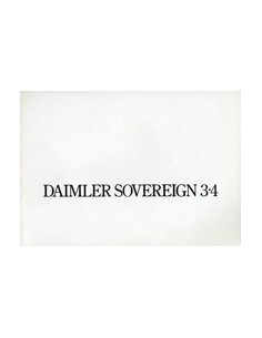 1975 DAIMLER SOVEREIGN 3.4 BROCHURE ENGELS