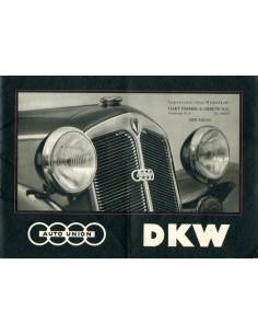 1938 DKW PROGRAMMA BROCHURE NEDERLANDS