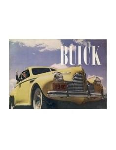 1940 BUICK PROGRAMMA BROCHURE ENGELS