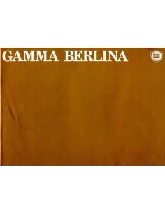 1979 LANCIA GAMMA BERLINA BROCHURE ENGELS