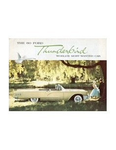 1960 FORD THUNDERBIRD BROCHURE ENGELS
