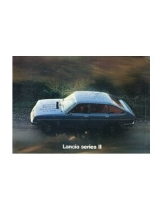 1976 LANCIA BETA BERLINA SERIE II BROCHURE ENGELS