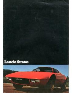 1975 LANCIA STRATOS BROCHURE DUITS