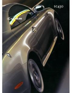 2002 LEXUS SC430 BROCHURE NEDERLANDS