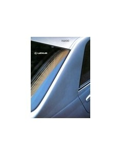 2000 LEXUS IS200 BROCHURE NEDERLANDS