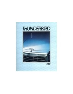 1981 FORD THUNDERBIRD BROCHURE ENGELS