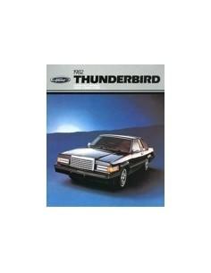 1982 FORD THUNDERBIRD BROCHURE ENGELS