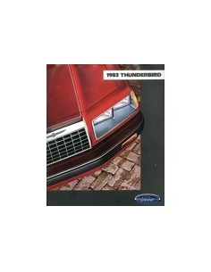 1983 FORD THUNDERBIRD BROCHURE ENGELS