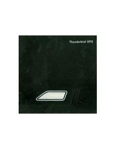 1973 FORD THUNDERBIRD BROCHURE ENGELS