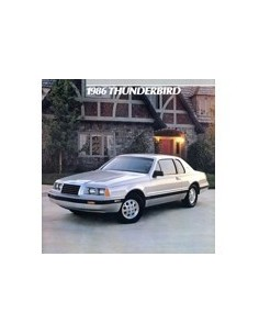 1986 FORD THUNDERBIRD BROCHURE ENGELS
