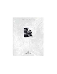 1990 LEXUS ES250 BROCHURE ENGELS USA